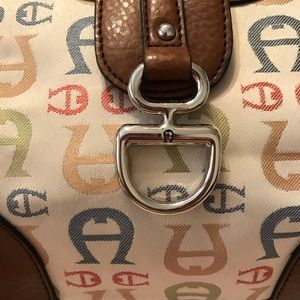 Etienne Aigner Bags - Etienne Aigner vintage purse logo multicolor cream